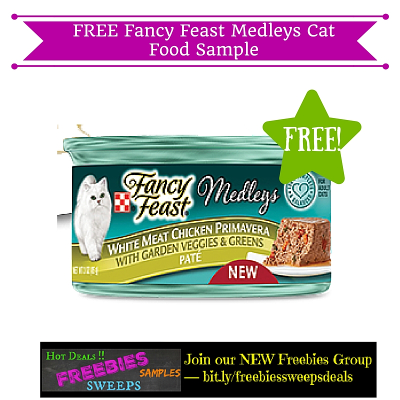 Free coupons for fancy feast cat food