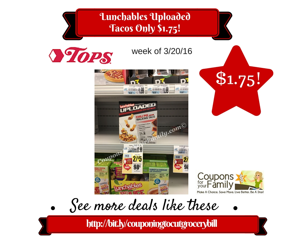 tops unadvertised coupon deal lunchables uploaded tacos only 175
