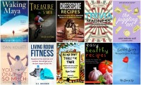 Books to Download for Free April 28:  Cheesecake Recipes, Trivia Madness, Waking Maya, Living Room Fitness & more