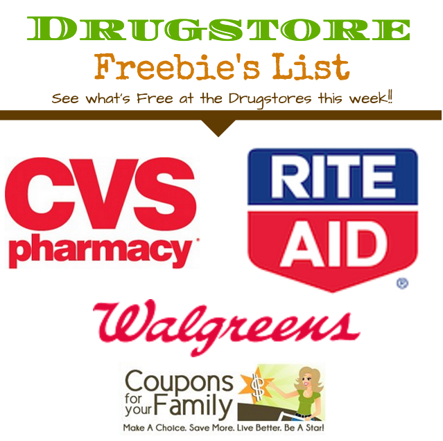 Drugstore Freebies List