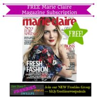 Freebies Offer: FREE Marie Claire Magazine Subscription