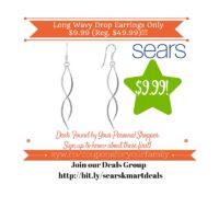 Sears: Long Wavy Drop Earrings Only $9.99 (Reg. $49.99)