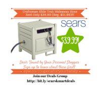 Sears Retail Deals: Craftsman Slide Trak Hideaway Hose Reel Only $39.99 (Reg. $51.99)