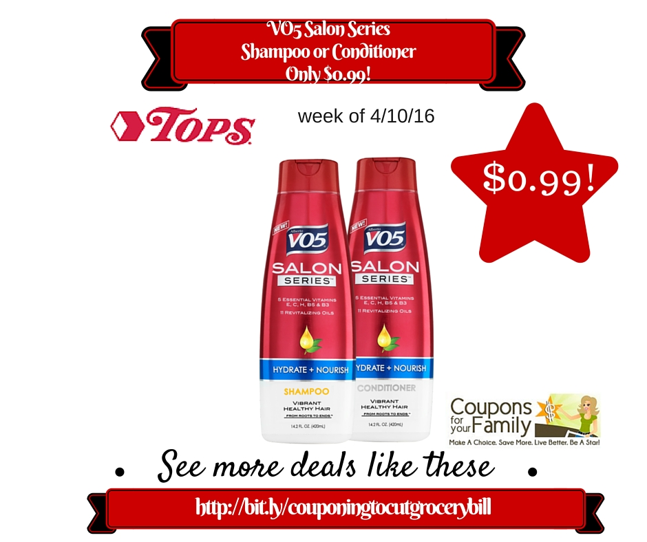 Vo5 shampoo and conditioner coupons