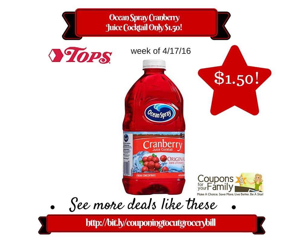 Ocean spray cranberry coupons