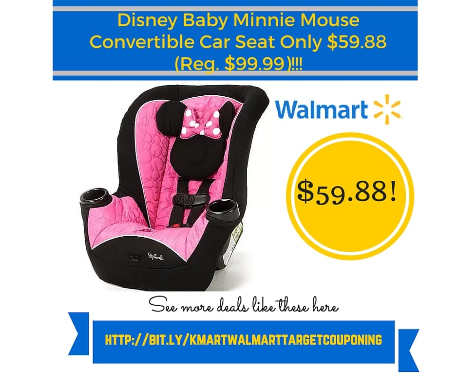 Walmart Retail Deals Disney Baby Minnie Mouse Convertible Car Seat Only 5988 Reg