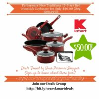 Kmart Retail Deals: Farberware New Traditions 12-Piece Red Nonstick Cookware Set Only $50.00 (Reg. $99.99)
