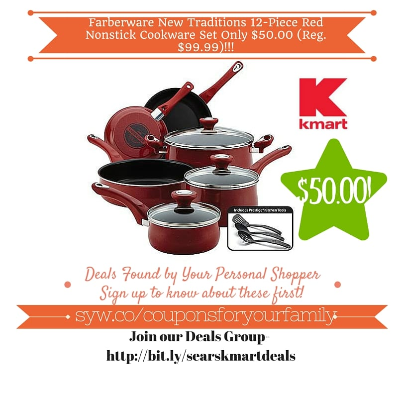 Kmart Retail Deals: Farberware New Traditions 12-Piece Red ...