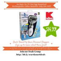 Kmart Retail Deals: As Seen On TV Ped Egg Powerball Rechargeable Callus Remover Only $14.99