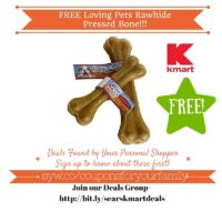 Kmart: FREE Loving Pets Rawhide Pressed Bone (MUST LOAD TODAY, Valid 5/6-5/8)