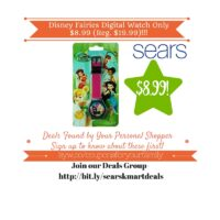 Sears Retail Deals: Disney Fairies Digital Watch Only $8.99 (Reg. $19.99)
