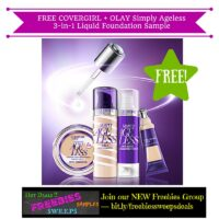 Freebies Offer: FREE COVERGIRL + OLAY Simply Ageless 3-in-1 Liquid Foundation Sample