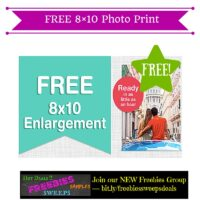 Freebies Offer: FREE 8×10 Photo Print