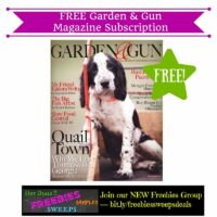 Freebies Offer: FREE Garden & Gun Magazine Subscription (2 Years)
