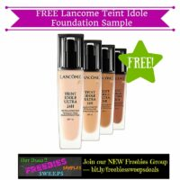 Freebies Offer: FREE Lancome Teint Idole Foundation Sample