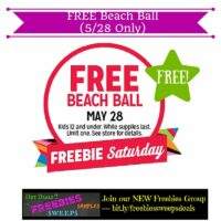 Freebies Offer: FREE Beach Ball (5/28 Only)