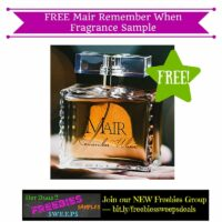 Freebies Offer: FREE Mair Remember When Fragrance Sample