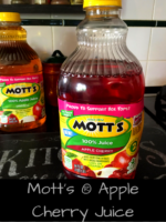 Mott's® Apple Cherry Juice and chance to win $100 Walmart Gift Card!!