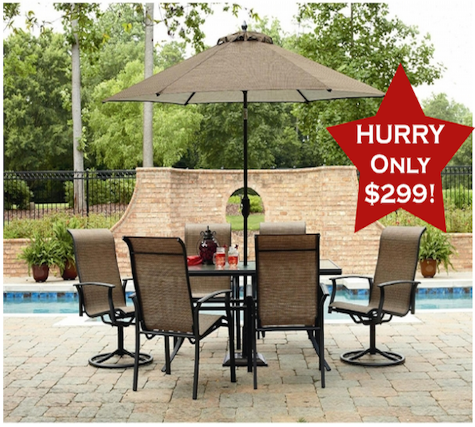 **HOT BUY** Garden Oasis Harrington 7 Piece Patio Set For Only $299