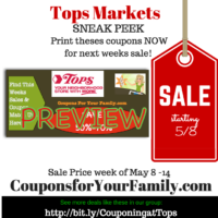 Tops SNEAK PEEK Deals starting Sunday May 8 – print coupons now! Possible FREE BBQ Sauce, mustard & more!
