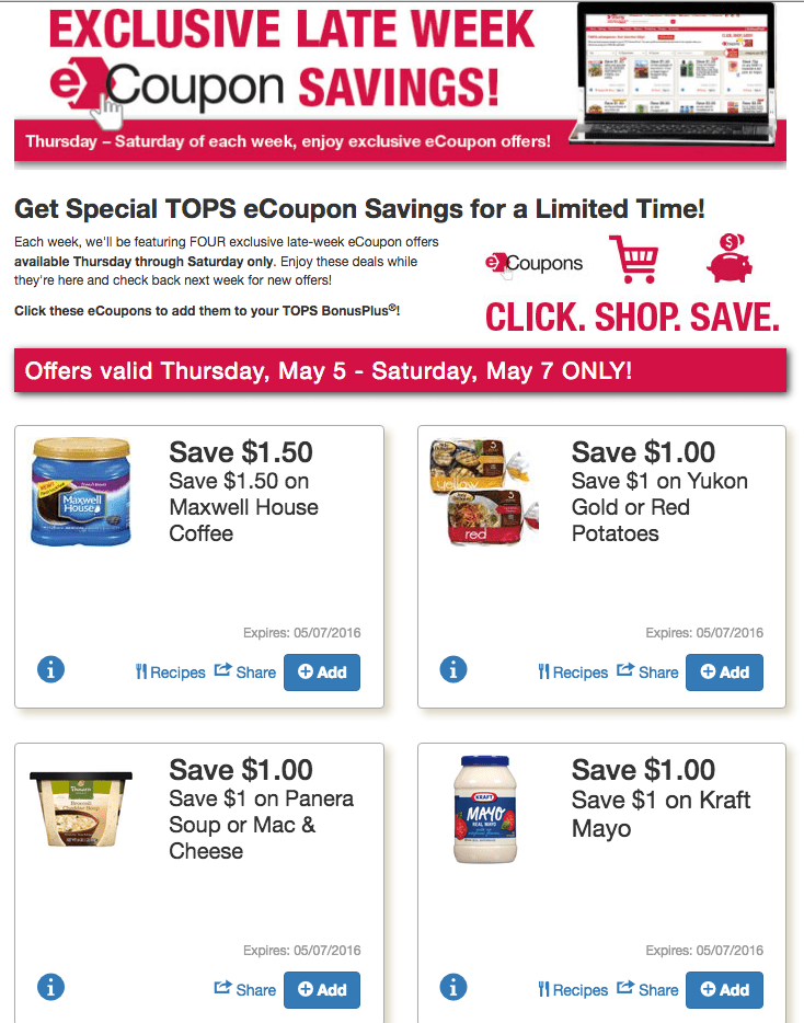 Tops Click to Card