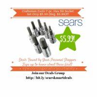 Sears Retail Deals: Craftsman Evolv 7 pc. Hex Bit Socket Set Only $5.99 (Reg. $9.99)
