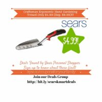 Sears Retail Deals: Craftsman Ergonomic Hand Gardening Trowel Only $4.99 (Reg. $9.99)