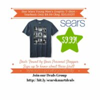 Sears Retail Deals: Star Wars Young Men's Graphic T-Shirt – Yearbook Only $9.99 (Reg. $20.00)