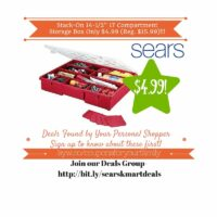 Sears Retail Deals: Stack-On 14-1/2″ 17 Compartment Storage Box Only $4.99 (Reg. $15.99)
