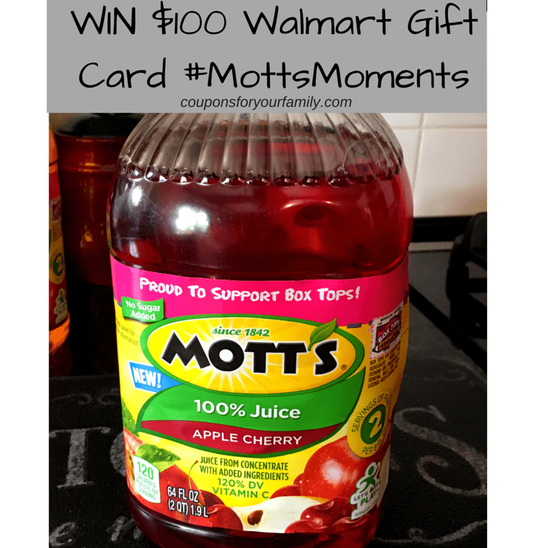 Motts Apple Cherry Jucie at Walmart