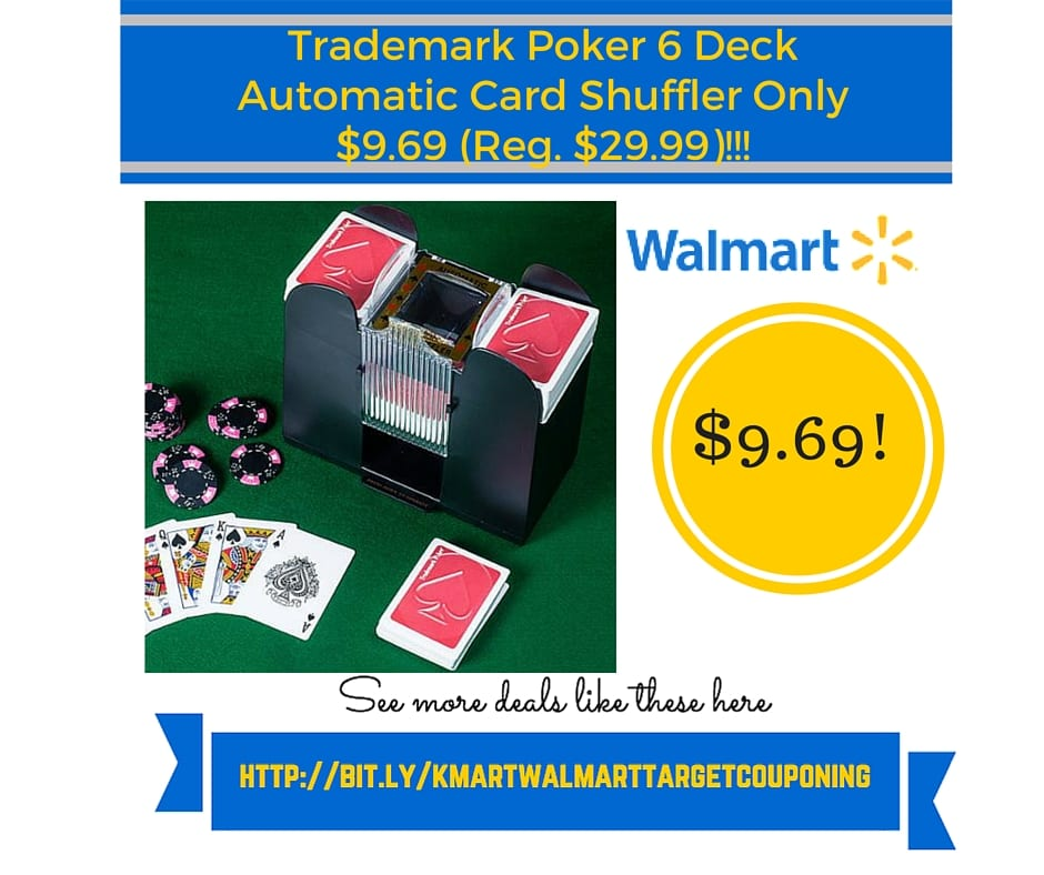Trademark poker 6 deck automatic card shuffler