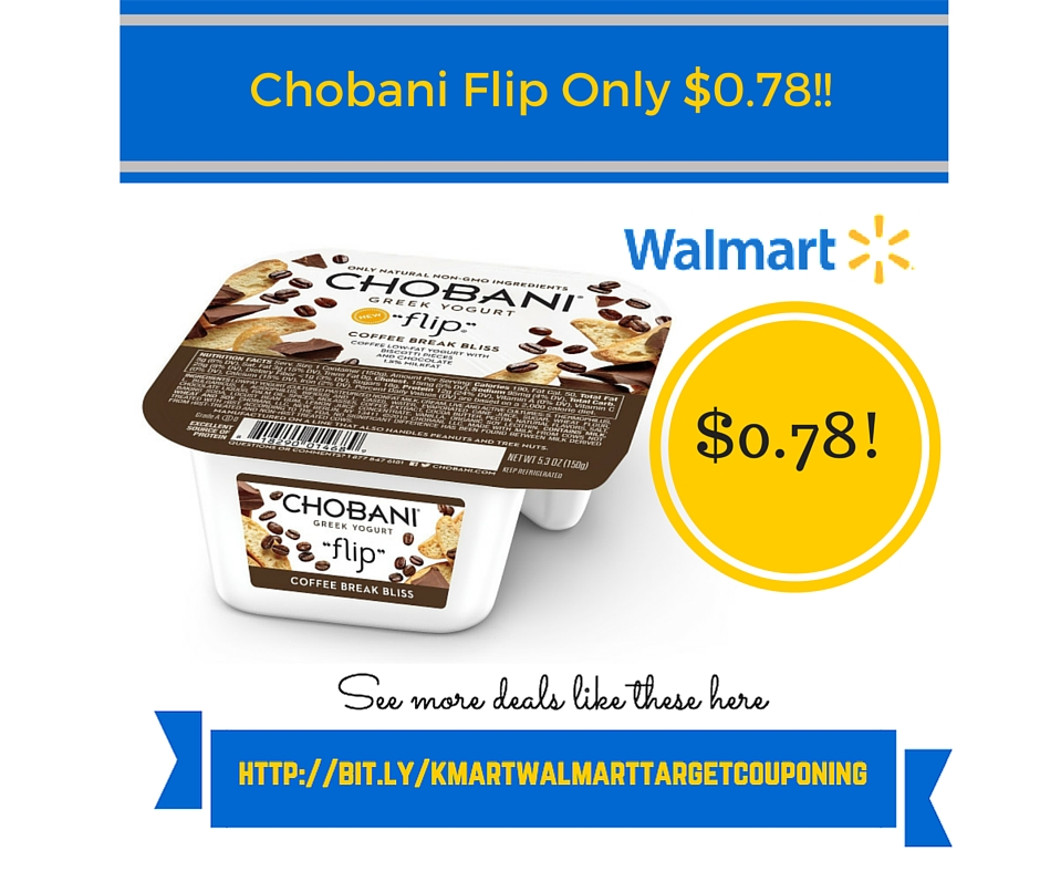 Walmart Coupon Matchup: Chobani Flip Only $0.78