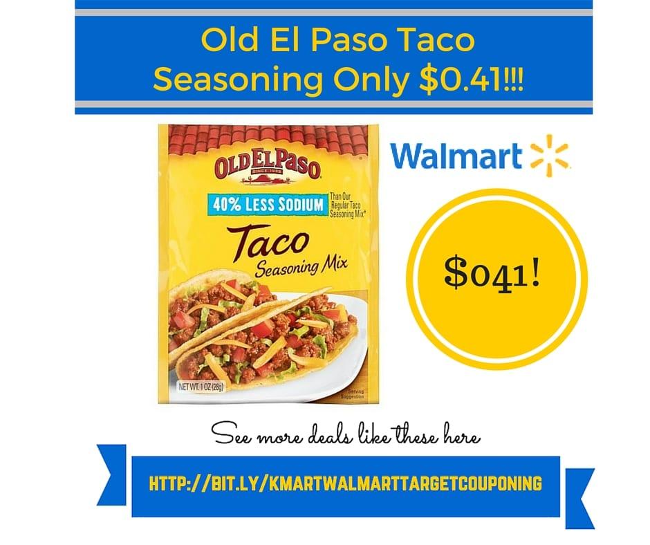 Walmart Coupon Matchup Old El Paso Taco Seasoning Only 041