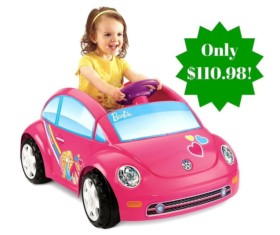 Fisher price power wheels barbie volkswagen car only 110 for Fisher price motorized cars