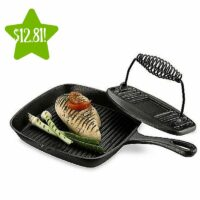 Essential Home Cast Iron Grill Pan and Press Set Only $12.81 After Points (Reg. $19.99)