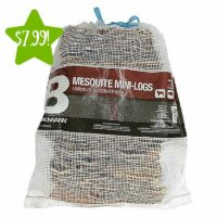 Brinkmann 25lb Mesquite Wood Logs Only $7.99 (Reg. $19.99)