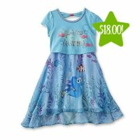Disney Finding Dory Girl's Popover Dress Only $18.00 (Reg. $36.00)