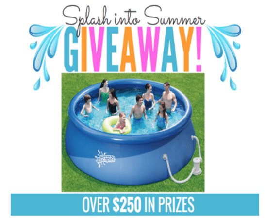 Enter our Splash Into Summer Giveaway for chance to win (1) of (2) Swimming Pools or a Slip & Slide *ends 6/14*