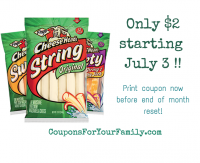 Frigo Cheese Heads for only $2 at Tops starting 7/3– print coupon now before reset!