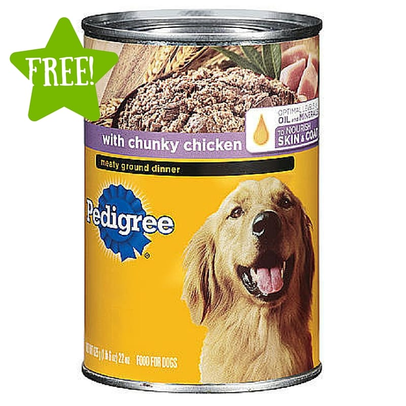 FREE 22 oz Can of Pedigree Wet Dog Food (3/17-3/19) LOAD TODAY
