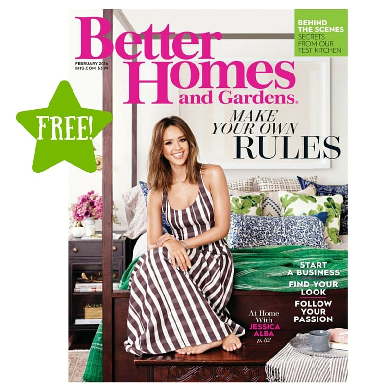 Free better homes and gardens magazine subscription for Free home magazines