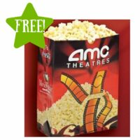 FREE Large Popcorn at AMC Theatres (7/31 Only)