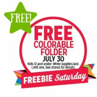 FREE Colorable Folder (7/30 Only)