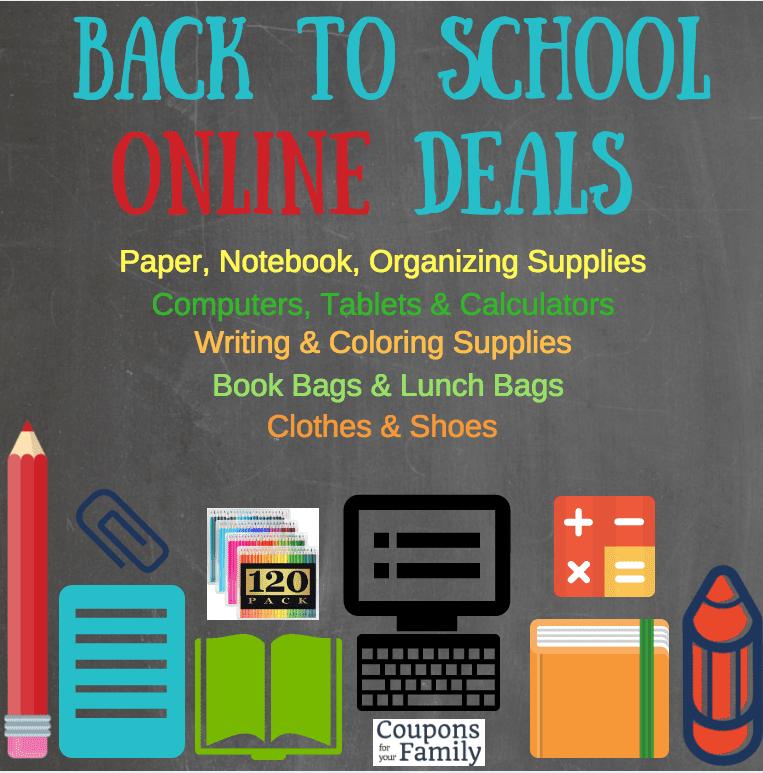 Online BAck to School Deals