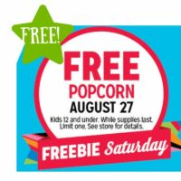 FREE Popcorn (8/27 Only)