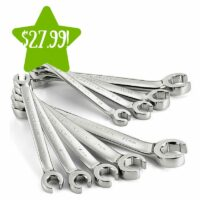 Craftsman 9 pc. Standard and Metric Flare Nut Wrench Set Only $27.99 (Reg. $40)