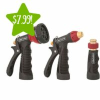 Craftsman 3 pc. Water Hose Metal Nozzle Set Only $7.99 (Reg. $16)
