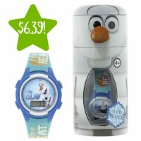 Disney Olaf LCD Watch in Cylinder Tin Only $6.39 (Reg. $20)