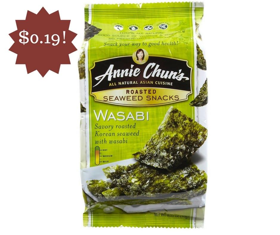 Wegmans: Annie Chun's Seaweed Snacks Only $0.19