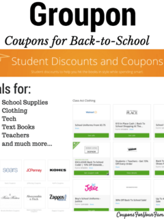 Groupon Coupons for Back to School